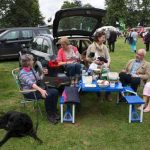 Perth Show…06.08.16 Enjoying a picnic from the back of the car at lunchtime on Saturday Picture by Graeme Hart. Copyright Perthshire Picture Agency Tel: 01738 623350  Mobile: 07990 594431