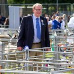 Perth Show…06.08.16 Perth Show Chairman Hector Campbell in the sheep pens Picture by Graeme Hart. Copyright Perthshire Picture Agency Tel: 01738 623350  Mobile: 07990 594431