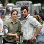 Perth Show…06.08.16 Rachael Pengelly and Rob Dewey from St Andrews watch the sheep judging Picture by Graeme Hart. Copyright Perthshire Picture Agency Tel: 01738 623350  Mobile: 07990 594431