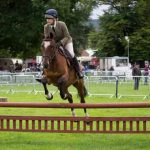 Perth Show…05.08.16 BSPS Novice Working Hunter Ponies Class 039… Bridget Broad on Enigma Picture by Graeme Hart. Copyright Perthshire Picture Agency Tel: 01738 623350  Mobile: 07990 594431