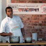 Perthshire On A Plate….05.08.16  Chef Praveen Kumar from The Tabla in Perth pictured during his cookery demonstation at Perthshire On A Plate food festival held today and tomorrow at Perth Show. Tomorrow's celebrity chef is Scottish Spice King Tony Singh. Each day features a full demonstration programme of celebrity and top local chefs.    The two day food lovers event is organised by Perthshire Chamber of Commerce. Picture by Graeme Hart. Copyright Perthshire Picture Agency Tel: 01738 623350  Mobile: 07990 594431
