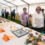 Perthshire On A Plate….05.08.16  Celebrity chef Rosemary Shrager pictured with SWI Secretary Julia Robertson Picture by Graeme Hart. Copyright Perthshire Picture Agency Tel: 01738 623350  Mobile: 07990 594431