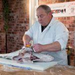 Perthshire On A Plate….06.08.16  Fishmonger demonstration by George Campbell & Sons Picture by Graeme Hart. Copyright Perthshire Picture Agency Tel: 01738 623350  Mobile: 07990 594431
