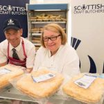 Perthshire On A Plate….05.08.16  Celebrity chef Rosemary Shrager takes a tour of the trade stands in the Perthshire On A Plate marquee. Picture by Graeme Hart. Copyright Perthshire Picture Agency Tel: 01738 623350  Mobile: 07990 594431