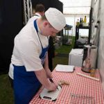Perthshire On A Plate….06.08.16  Perth College UHI students who were assiting the chefs Picture by Graeme Hart. Copyright Perthshire Picture Agency Tel: 01738 623350  Mobile: 07990 594431