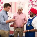 Perthshire On A Plate….06.08.16  Celebrity chef Tony Singh at Bannerman Decorators stand Picture by Graeme Hart. Copyright Perthshire Picture Agency Tel: 01738 623350  Mobile: 07990 594431