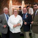 Perthshire On A Plate….05.08.16  Celebrity chef Rosemary Shrager with Perth Show judges Picture by Graeme Hart. Copyright Perthshire Picture Agency Tel: 01738 623350  Mobile: 07990 594431