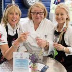 Perthshire On A Plate….05.08.16  From left, Maureen Young, chef Rosemary Shrager and Vicki Unite Picture by Graeme Hart. Copyright Perthshire Picture Agency Tel: 01738 623350  Mobile: 07990 594431