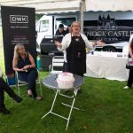 Perthshire On A Plate….05.08.16  Celebrity chef Rosemary Shrager pictured with from left Vicki Unite Perthshire Chamber of Commerce, Fiona Walker of DWK Office Solutions and Maureen Young of Perthshire On A Plate. Rosemary officially opened Perthshire On A Plate food festival by cutting a cake. The show is held today and tomorrow at Perth Show. Tomorrow's celebrity chef is Scottish Spice King Tony Singh. Each day features a full demonstration programme of celebrity and top local chefs.    The two day food lovers event is organised by Perthshire Chamber of Commerce. Picture by Graeme Hart. Copyright Perthshire Picture Agency Tel: 01738 623350  Mobile: 07990 594431