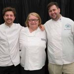 Perthshire On A Plate….05.08.16  Chef's from left Graeme Pallister, Rosemary Shrager and Grant MacNicol Picture by Graeme Hart. Copyright Perthshire Picture Agency Tel: 01738 623350  Mobile: 07990 594431